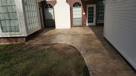 concrete, masonry, stamped and stained concrete