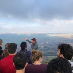PDLI touring the Golan Heights, looking into Syria