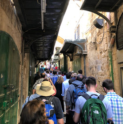 Walking the Stations of the Cross in Jerusalem