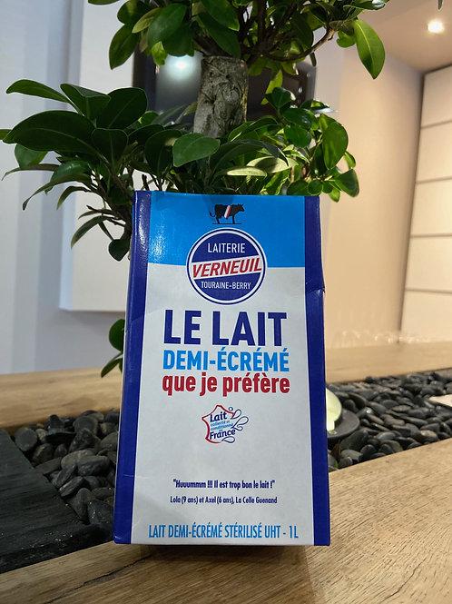 Lait demi-écrémé de la Laiterie Verneuil