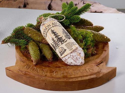 Saucisson artisanal aux bourgeons de Sapin