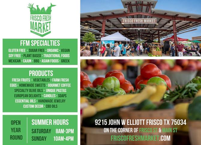 Sacred Space at Frisco Fresh Market Sunday August 18