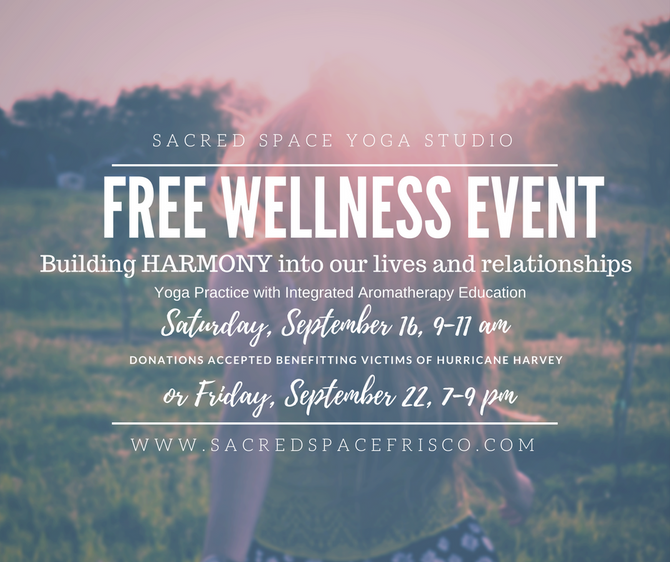 Last Free Sept Wellness Event this Friday