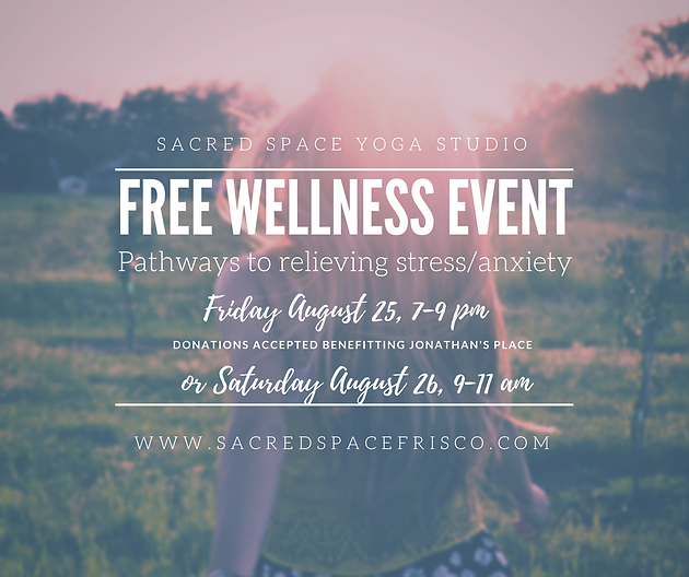Friday August 1st Free Community >> Join Us For A Free Wellness Event In August Sacredspace3