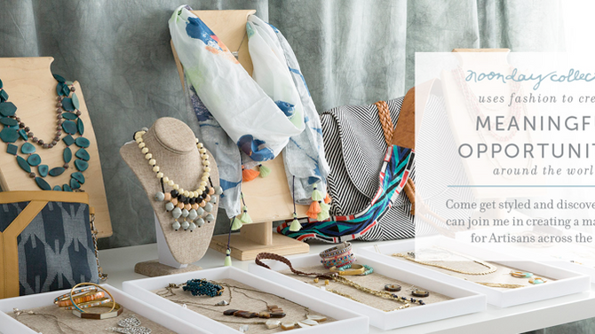 Noonday Collection Fair Trade Trunk show  in time for your holiday shopping