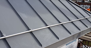 Custom standing seam Zinc roof