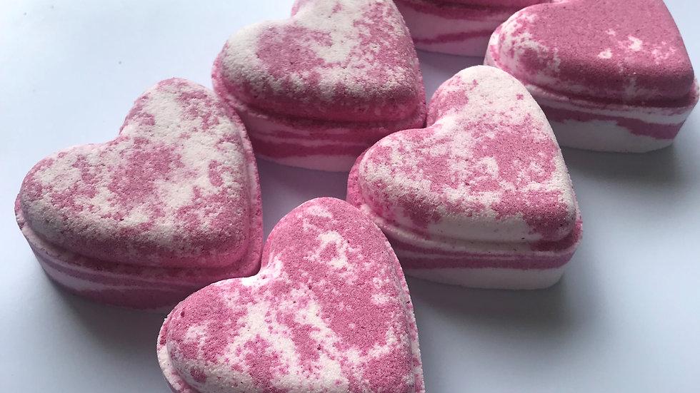Strawberry Bon Bon Love Hearts x6