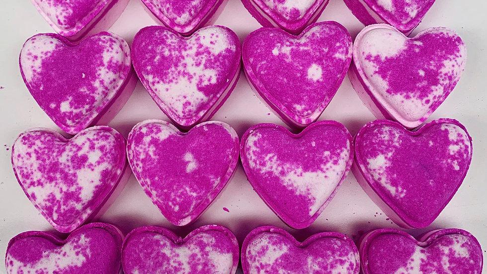 Pear & Freesia Love Hearts x6