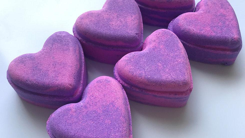 Parma Violet Love Hearts x6