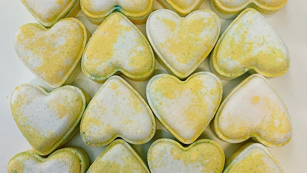 Marshmallow Love Hearts x6