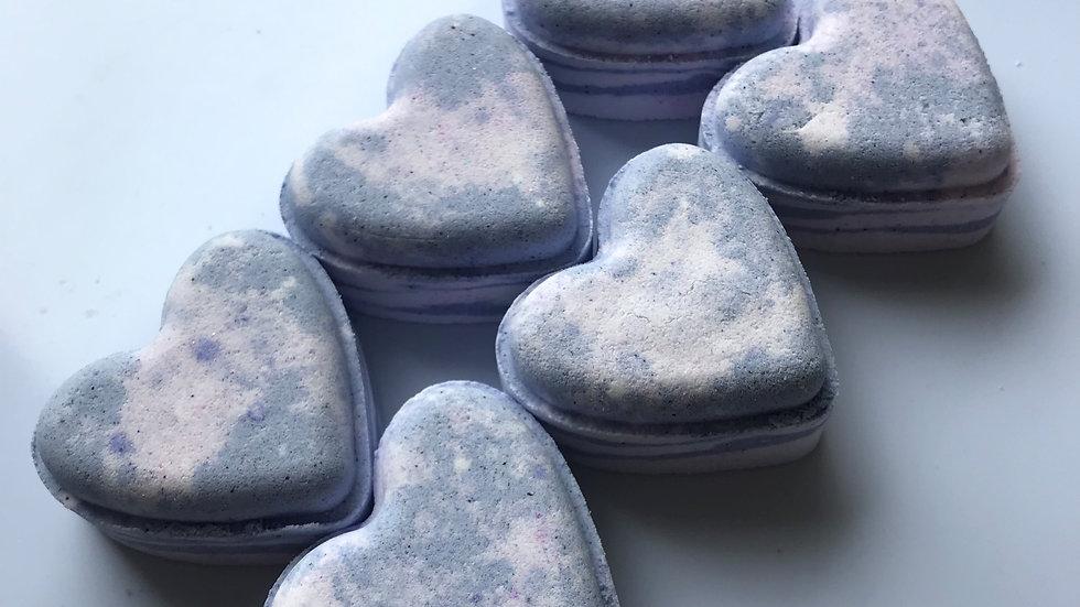 Lavender Breeze Love Hearts x6