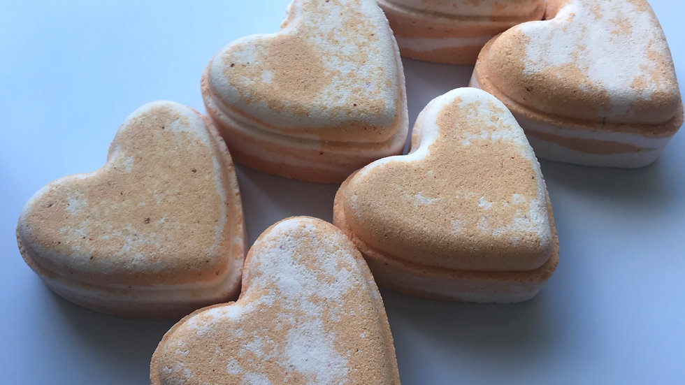 Sherbet Lemon Love Hearts x6