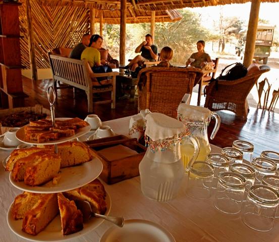 Afternoon tea at Siwandu reception, Nyerere, Selous