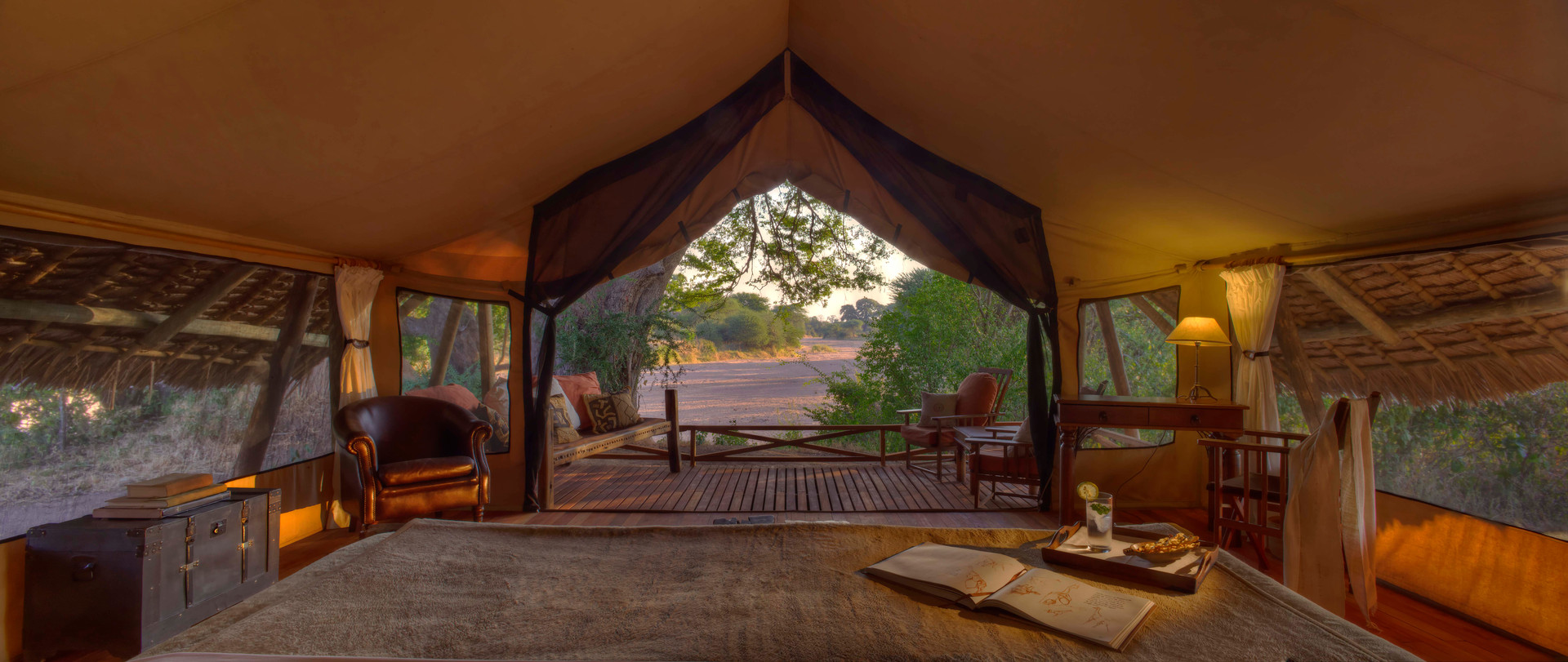 Wake up to this glorious view at Jongomero, Ruaha