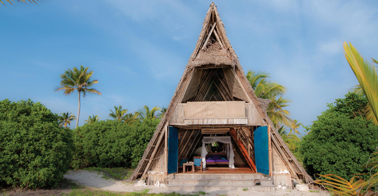 Tanzania Fanjove Island Banda exterior