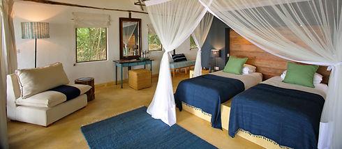 Cottage Interior Rubondo Island Chimp Camp Tanzania