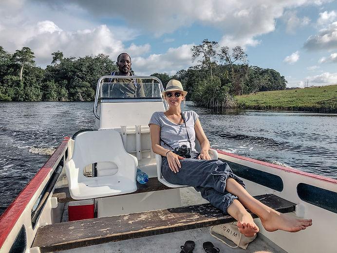 Boat Safaro Lagoon Tour Loango Gabon