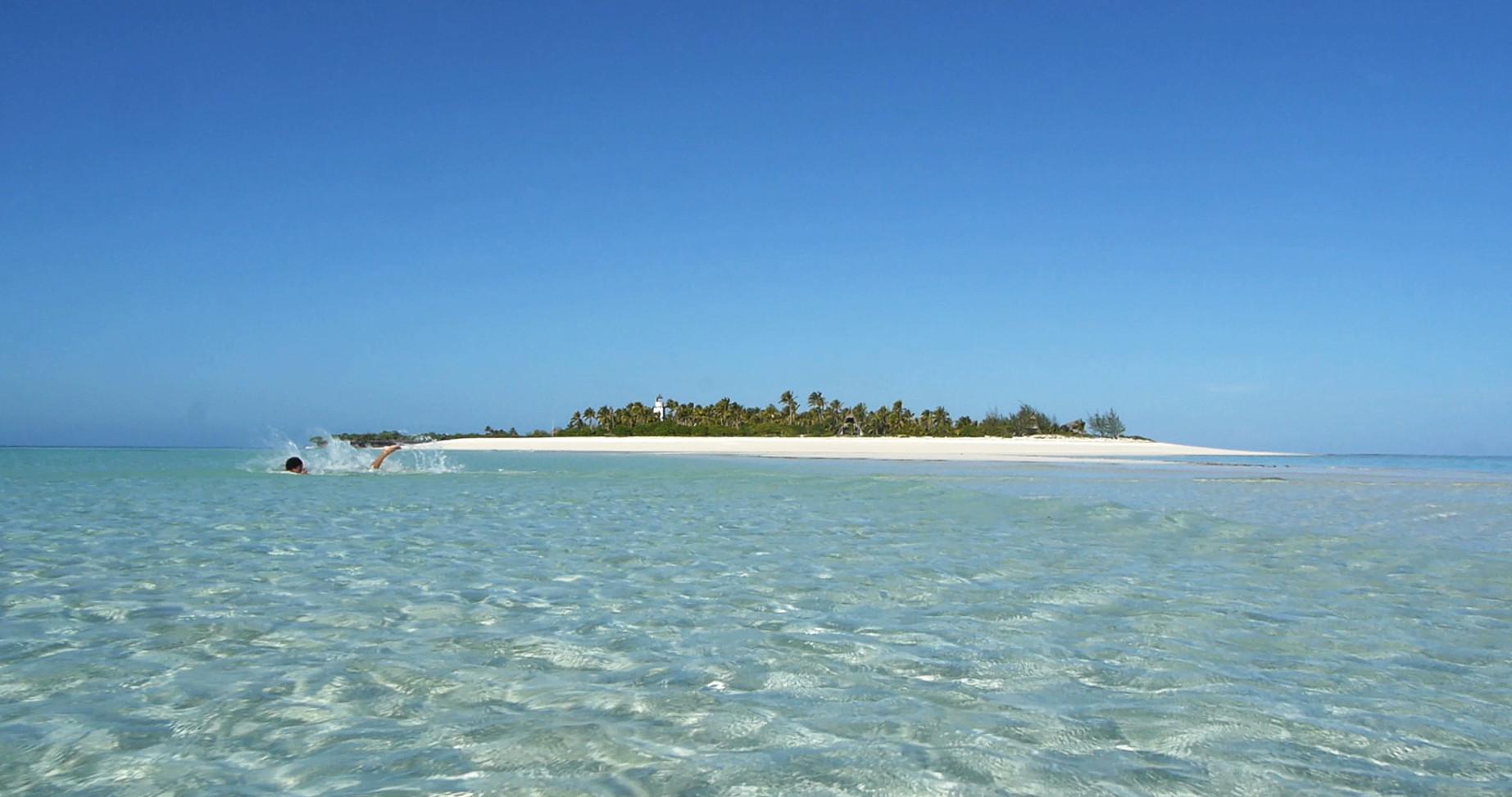Tanzania Fanjove island with snorkeller