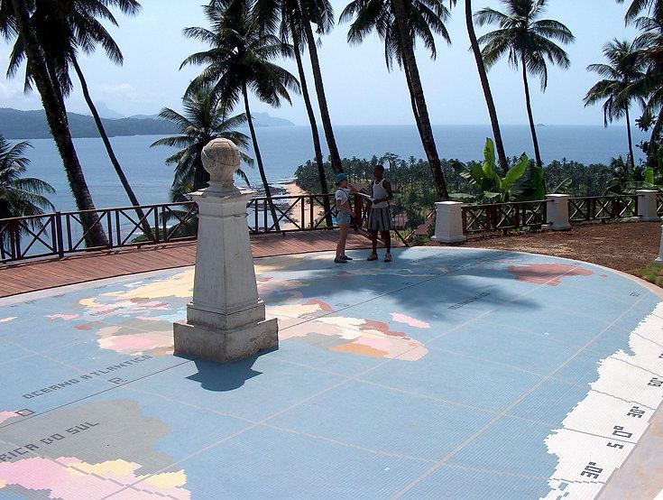 Equator Line Rolas Island São Tomê