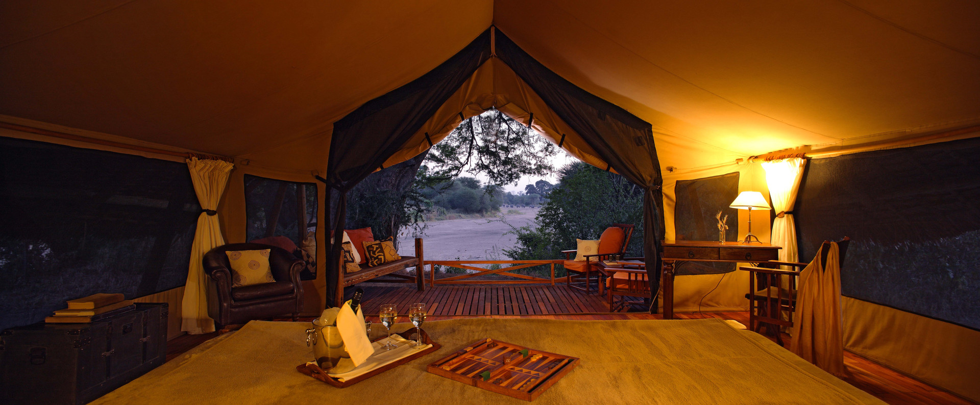 Secluded accommodation at Jongomero, Ruaha