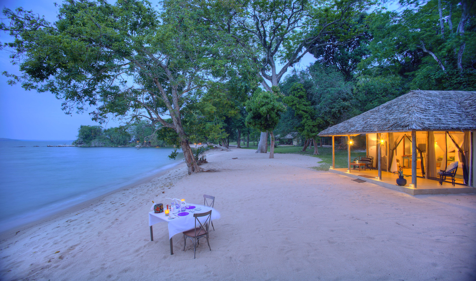 Private Dining Rubondo Chimp Island Tanz