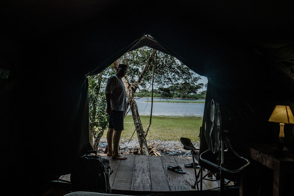 Tent with River View in Louri Wilderness Camp Loango Gabon