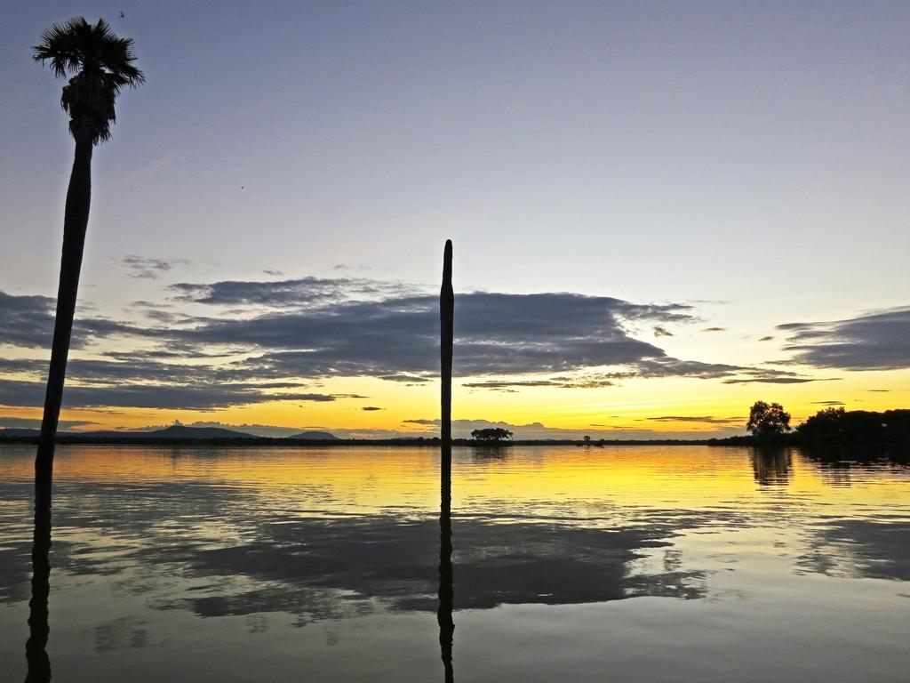 Lake Nzerkera by sunset, Siwandu, Nyerere, Selous