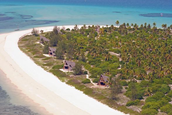 Tanzania Fanjove Island Bandas from Air