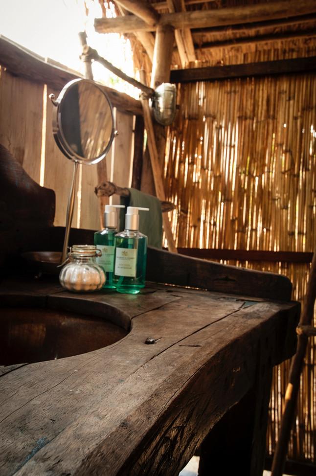 Ensuite Bathroom in Greystokes, Mahale, Tanzania