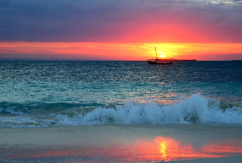 Tanzania Fanjove Island  sunset