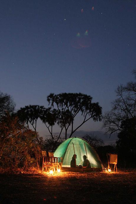 Romantic Night Safari Flycamping Ruaha Tanzania