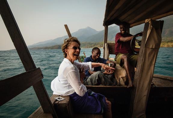 Boat Gruise on Lake Tanganyika Mahale Tanzania