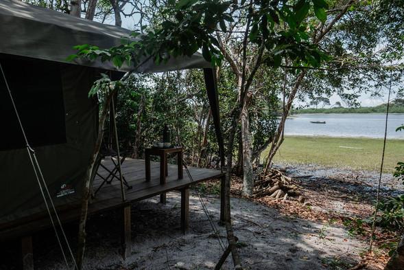 Tent in Louri Wilderness Camp Loango Gabon