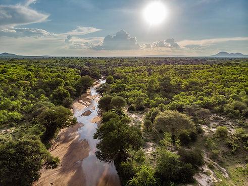 Jongomero Ruaha Tanzania Aerial View