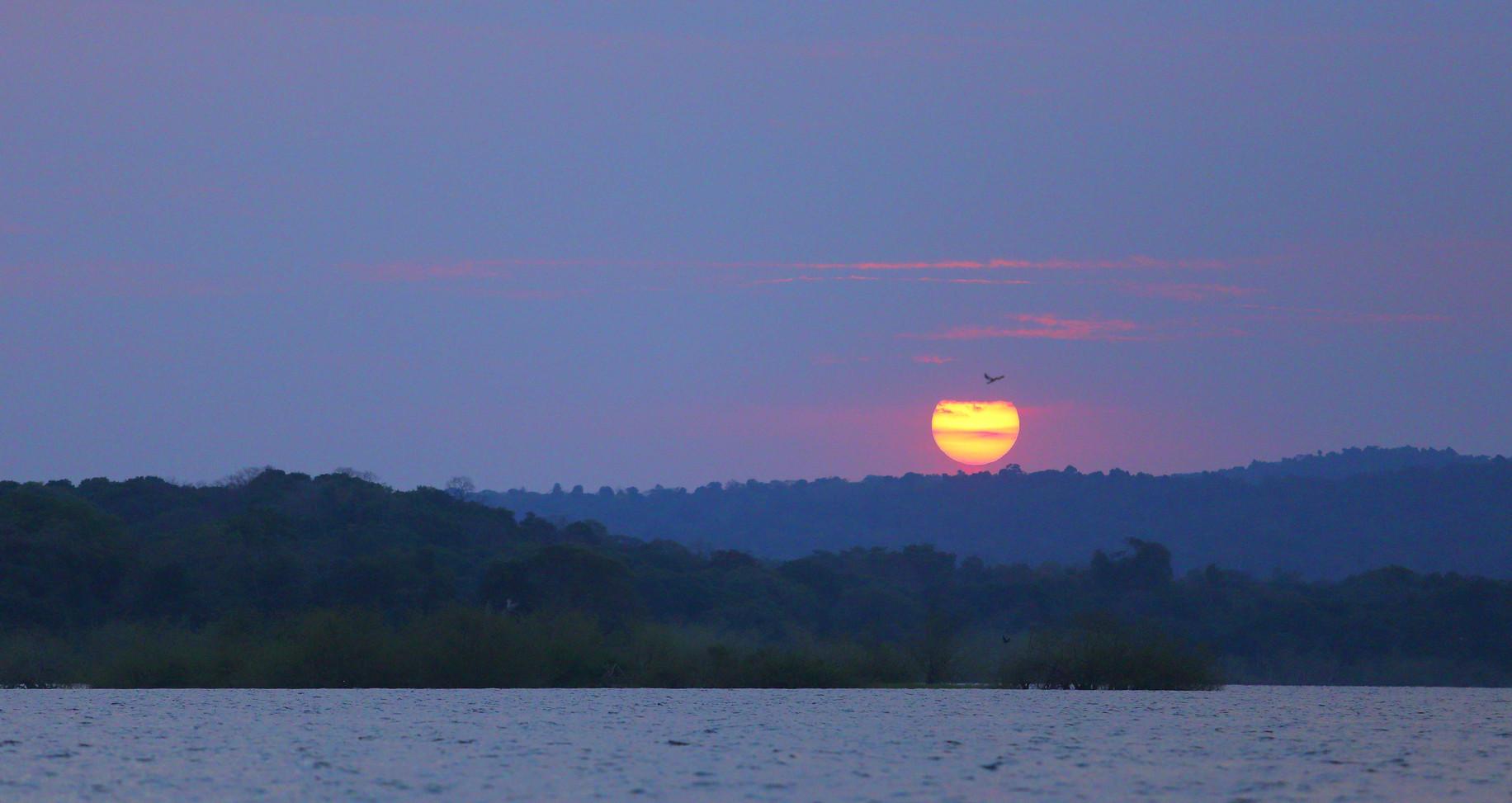 Sunset Rubondo Island Tanzania