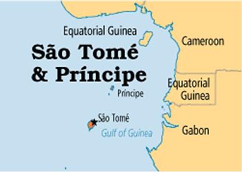 São Tomé Prìncipe Map