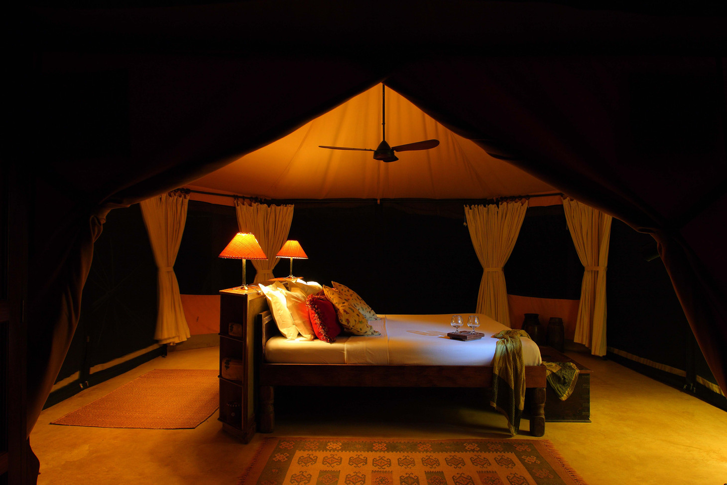 Sleep in cosy tents with the noises of Nyerere National Park