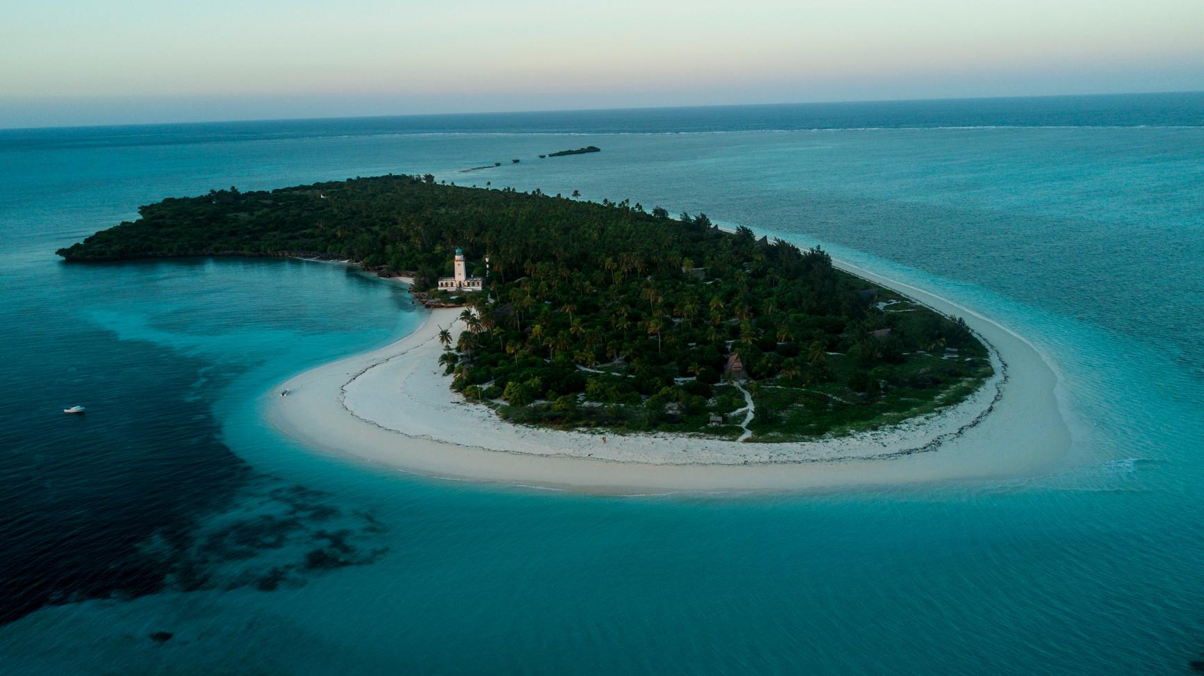 Tanzania Fanjove Island island Aerial