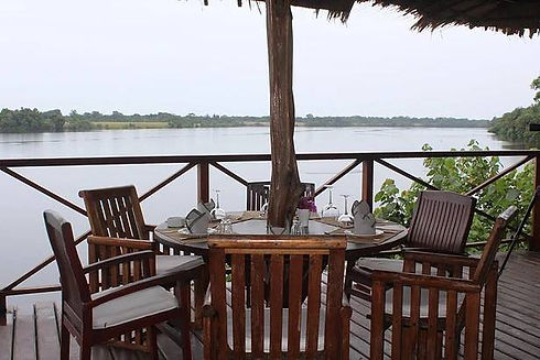 Loango Lodge Restaurant Lagoon View Gabon
