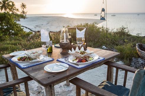 Tanzania Fanjove Island Dining Indian Ocean