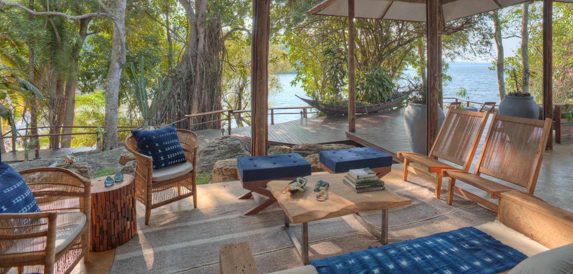 Lounge Area Rubondo Island Chimp Camp Ta