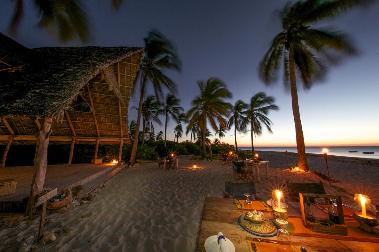 Tanzania Fanjove Island Dining area