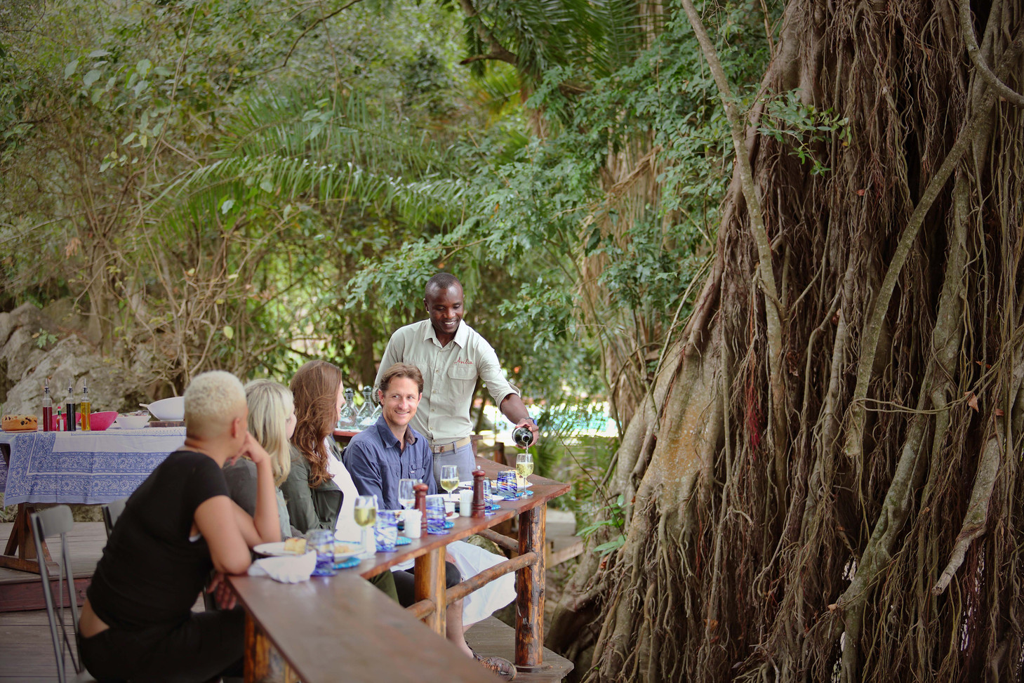 Lunch Deck Rubondo Island Tanzania