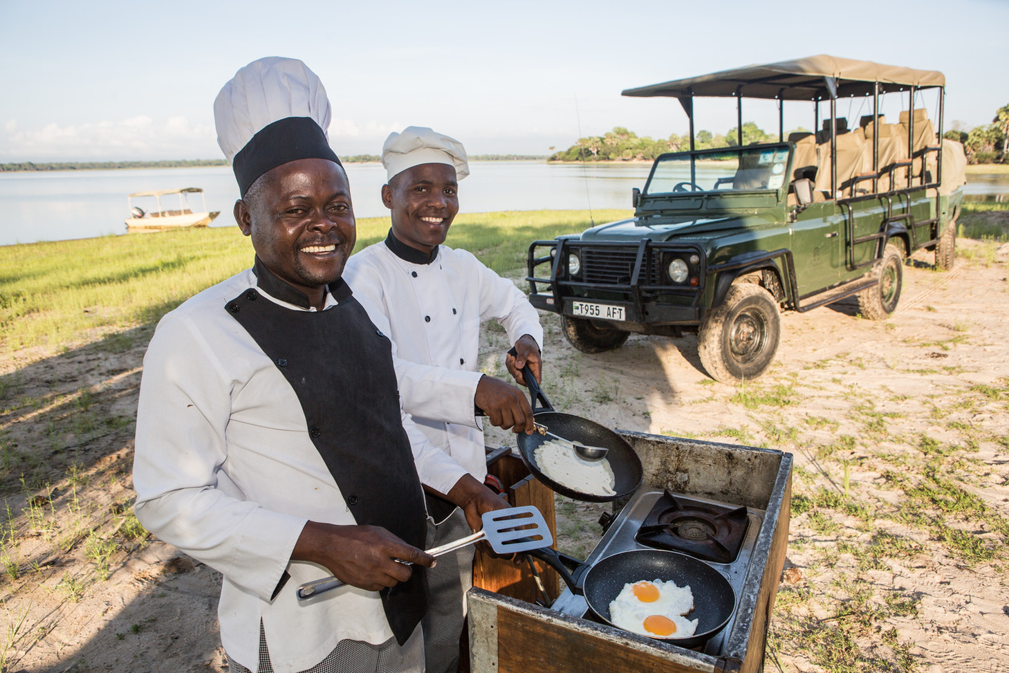 Bush Breakfast at Siwandu, Nyerere, Selous