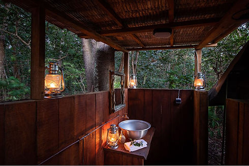Louri River Camp Bathroom Loango Gabon