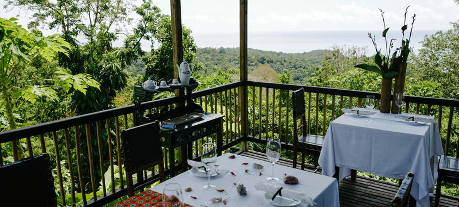 Restaurant Balcony Forest View Roça Sundy
