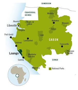 Map Gabon National Parks