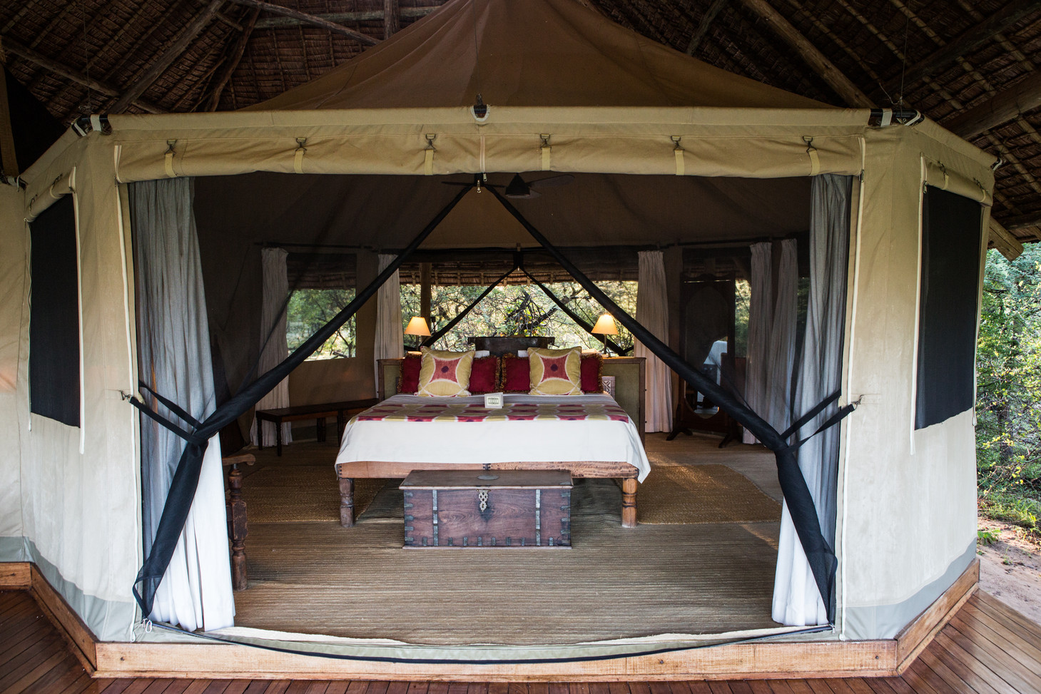 Spacious Octagonal Tents at Siwandu, Nyerere, Selous