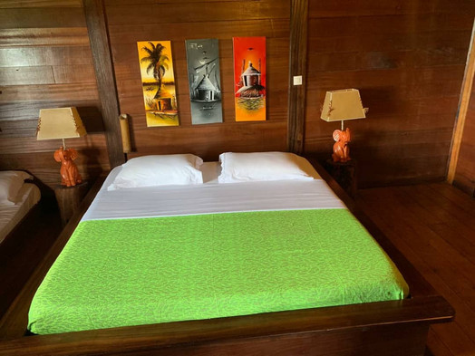 Bedroom Pongara Lodge Gabon