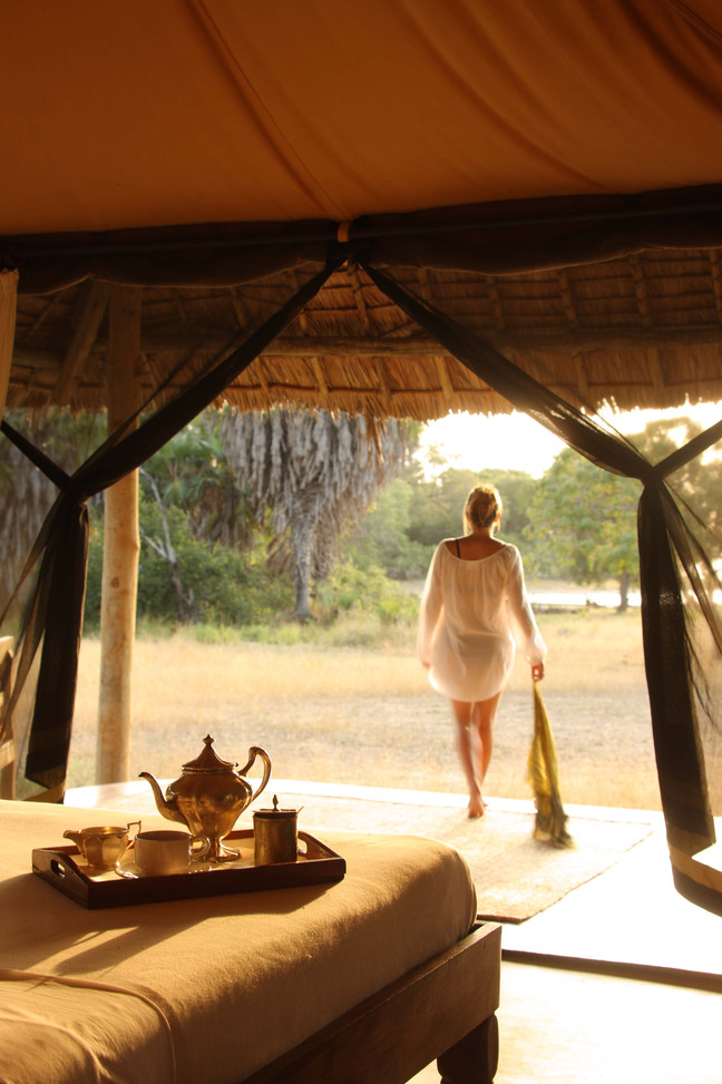 Relax in your superbly appointed tent in Siwandu, Nyerere, Selous